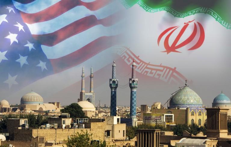 RETHINKING IRAN monitor  us iran flag