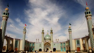 General view of Imamzadeh Helal Grand mosque in the city of Aran