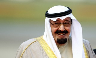 Saudi Arabia's King Abdullah arrives at Heathrow Airport in west London