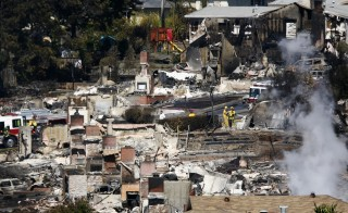 Nine people died after a gas line explosion and fire razed 70 homes in the San Francisco suburb on Sept. 9, 2010.  Photo by Ramin Rahimian/Reuters