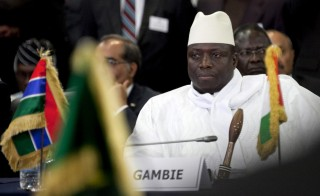 Gambia's President Yahya Jammeh attends a meeting of the Economic Community of West African States in Senegal's capital Dakar, April 2, 2012. Photo by Joe Penney/Reuters
