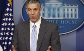 U.S. Secretary of Education Arne Duncan, seen here in March 2014, said today that he backs annual testing in schools. Photo by Larry DowningReuters