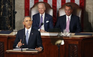 "President Obama highlights ""middle-class economics"" in his State of the Union speech. Photo by Larry Downing/Reuters"