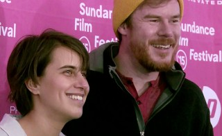 Joe and Kris Swanberg, husband and wife, both directors, both with films at Sundance this year. Photo by Steve Mort