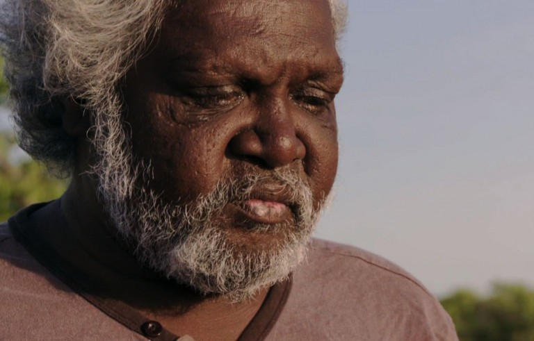 An aboriginal man from northern Australia sings in an endangered language.