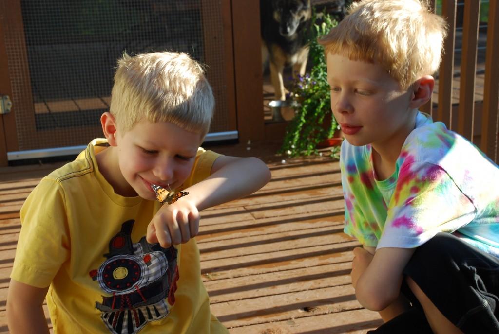 Ben Bredesen, left, and his brother Calvin. Photo by Laura Bredesen