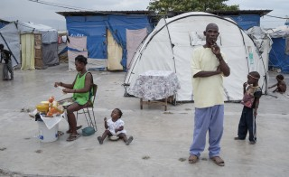 Five years since a magnitude 7.0 earthquake shook their nation, 80,000 Haitians remain in tent camps, a visible reminder of the slow humanitarian effort to rebuild the poor country and move its affected residents to permanent housing. Photo by Ed Kashi/American Jewish World Service