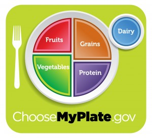 "The USDA promotes the ""MyPlate"" icon as a reminder to help consumers make healthier food choices. Photo from www.choosemyplate.gov"