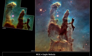 NASA's Hubble Telescope has snapped a new photo of the iconic Pillars of Creation in the Eagle Nebula 6,500 light years away. Credit: NASA/ESA/Hubble Heritage Team