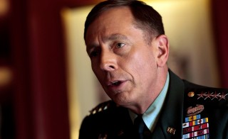 General David Petraeus, seen in this 2009  file photo, apologized to Congress today for sharing classified information with his biographer and mistress, Paula Broadwell. Photo by Chris Hondros/Getty Images