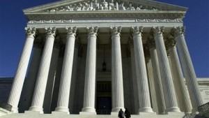The steps of the U.S. Supreme Court building are shown in this 2000 file photo in Washington. Supreme Court case poses challenges to independent and non-partisan district map drawers. Photo by Pat Benic/AP Photo.