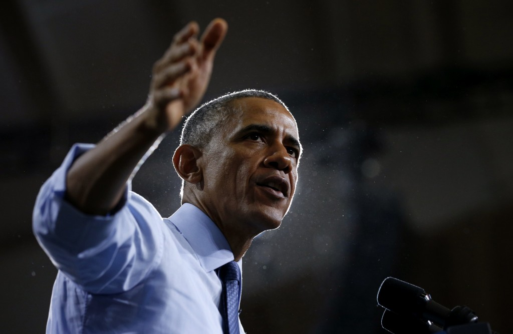 Photo by Kevin Lamarque/Reuters U.S. President Barack Obama speaks during a visit to the University of Kansas in Lawrence, Kansas Jan. 22, pushing his State of the Union message that everyone should stand to gain from an economy that has all but recovered from years in the doldrums. A new Associated Press-GfK poll finds Americans' views of Obama's handling of the economy have slightly improved in the past two months.