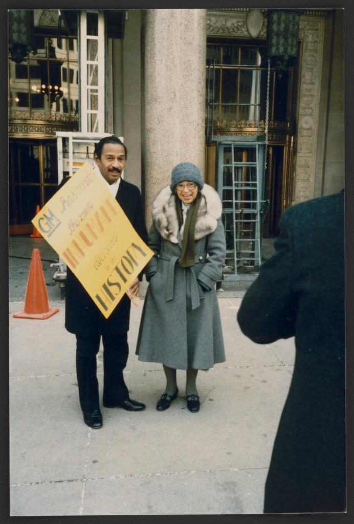 Rosa Parks and Congressman John Conyers, in Detroit, Michigan, circa 1990.  Photo courtesy of the Library of Congress.