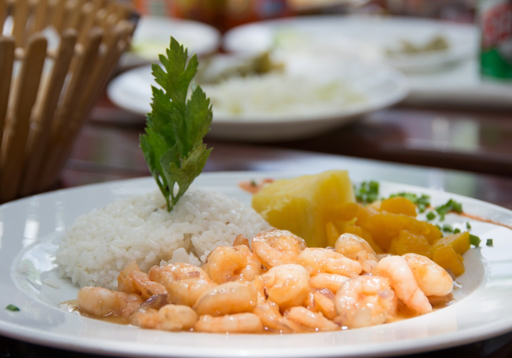 The shrimps served in La Ceiba paladar are prepared with a flavor to the famous cocktail Canchanchara served in the place of the same name. Photo by Roberto Machado Noa/LightRocket via Getty Images