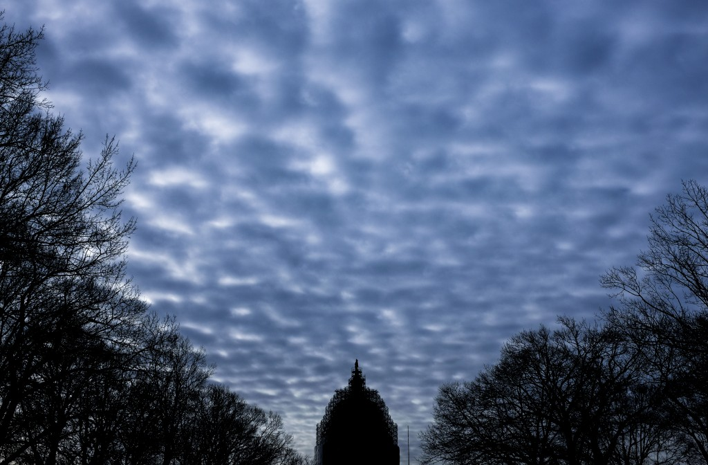 Clouds hang over the U.S. Capitol dome on Feb. 6. Photo By Bill Clark/CQ Roll Call