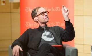 New York Times Columnist David Carr attends the TimesTalks at The New School on February 12 in New York City. He died later that day. Photo by Mark Sagliocco and Getty Images
