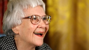 "Pulitzer Prize winner and ""To Kill A Mockingbird"" author Harper Lee smiles before receiving the 2007 Presidential Medal of Freedom in the White House Nov. 5, 2007. Photo by Chip Somodevilla/Getty Images"
