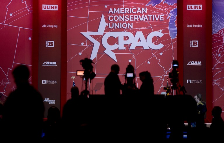 The Conservative Political Action Conference, or CPAC, begins today in National Harbor, Maryland. Photo by Andrew Harrer/Bloomberg via Getty Images