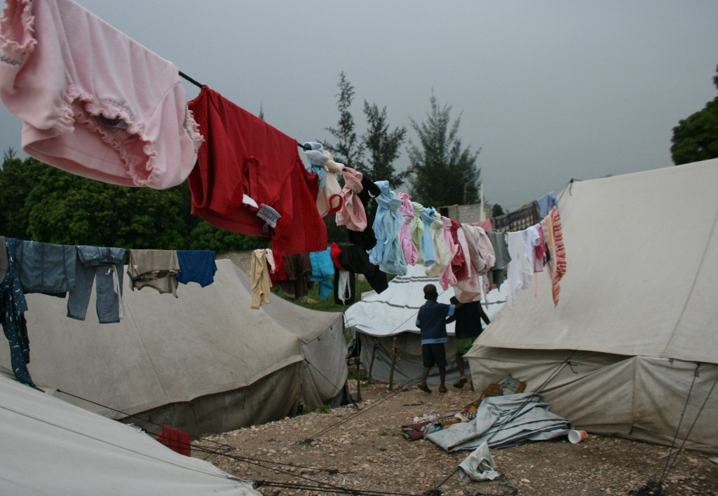 Six months after the quake, tent camps still cover every open piece of land in Port au Prince.
