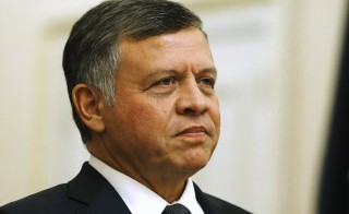 Jordan's King Abdullah arrives to meet with members of the U.S. Senate Foreign Relations Committee at the U.S. Capitol in Washington