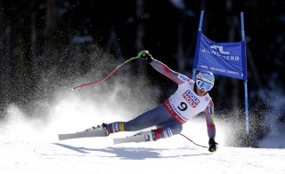 U.S. skier Bode Miller was laeding through the first half of the men's Super G race before crashing in the FIS alpine skiing world championships at Birds of Prey Racecourse in Beaver Creek, Colorado. Photo by Erich Schlegel/USA Today Sports via Reuters
