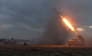 Ukrainian servicemen launch a Grad rocket towards pro-Russian separatist forces outside Debaltseve, eastern Ukraine on Sunday. President Barack Obama and German Chancellor Angela Merkel are trying for a public display of unity despite a potential split over arming Ukrainian fighters. Photo by Alexei Chernyshev/Reuters