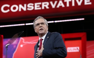 Jeb Bush speaks at the Conservative Political Action Conference in Maryland