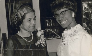 Rosa Parks and Honorable Congresswoman Shirley Chisholm, circa 1968.  Photographer not identified.