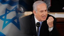 SPEECH CONTROVERSY monitor Netanyahu  israel  FLAGS