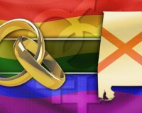 STATE SHOWDOWN monitor gay marriage rings alabama map flag