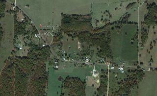 An aerial view of the center of Tyrone, Mo, where a young girl called authorities after hearing gunshots late Thursday. Photo from Google Earth.