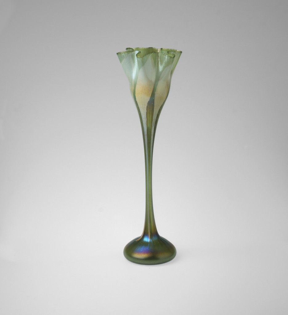 Flower-form vase.