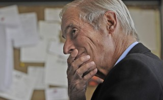 Bob Simon in his office at CBS's Broadcast Center in 2010 in New York City. Simon died Wednesday at 73. Photo by John Paul Filo/CBS