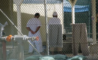 Detainees in the compliant camp at Guantanamo Bay, Cuba. Photo by Larisa Epatko