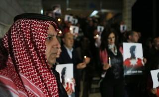 Candlelight Vigil Held For Executed Jordanian Pilot