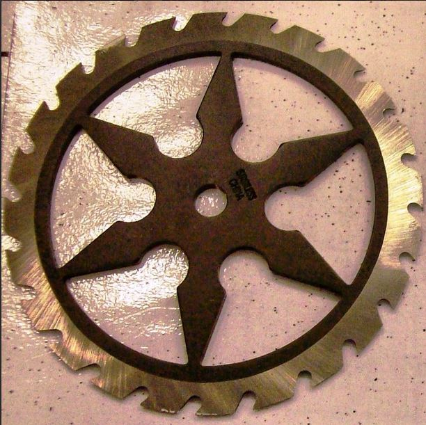 TSA found this throwing star in a carry-on bag at Salt Lake City International Airport.