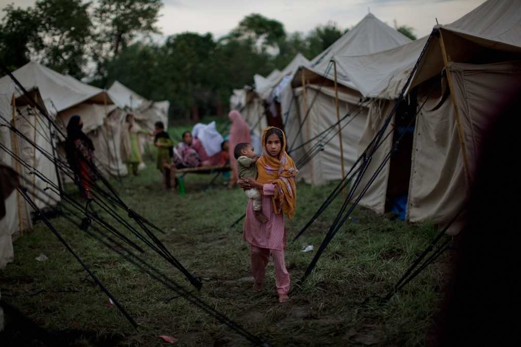 Tent camp The U.N. is warning that an estimated 1.8 million people will need food and care in the coming weeks. AFP/Getty