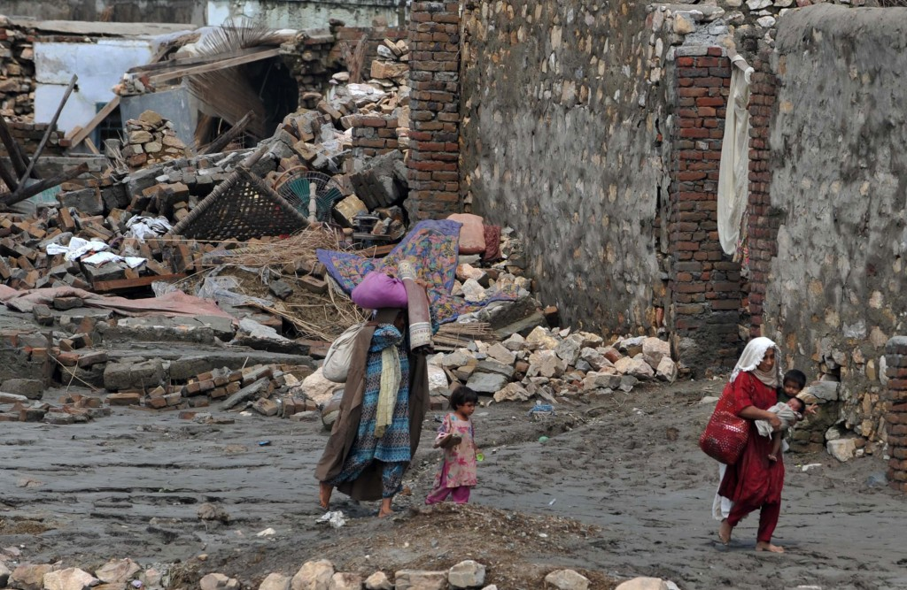 Returning home Pakistani flood survivors return to their homes, finding destruction. AFP/Getty Images