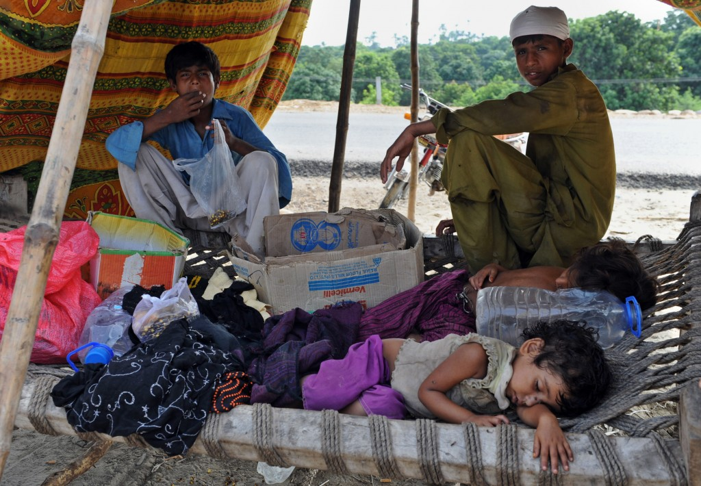 Flood-affected children Pakistani children are among the most vulnerable to disease outbreaks. AFP/Getty Images