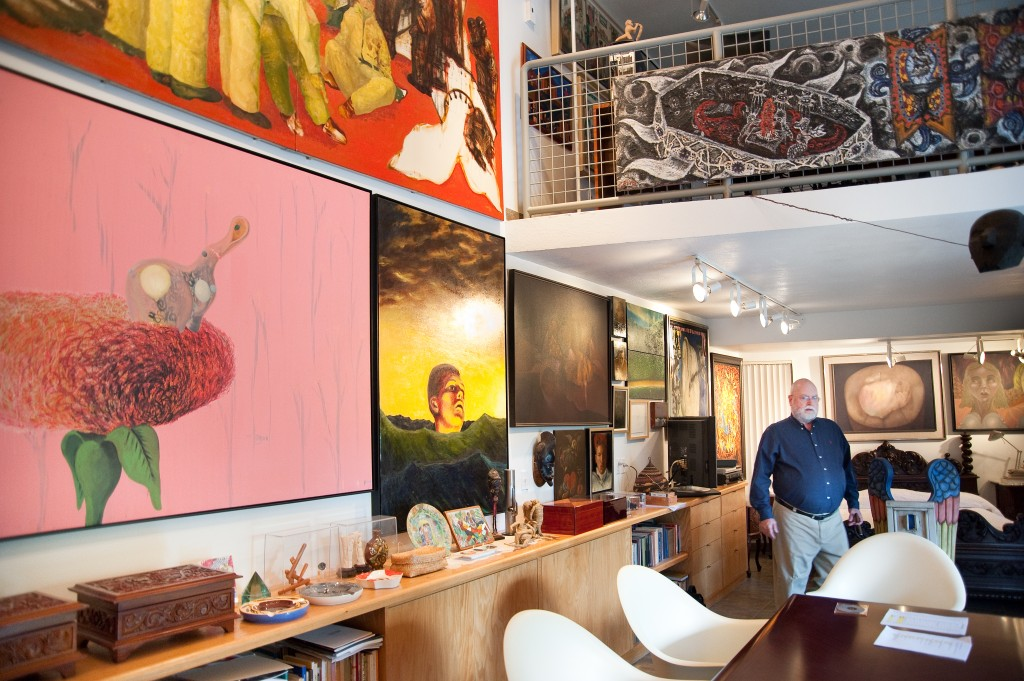 A home for art Ricardo Pau-Llosa stands in his Miami home surrounded by art by contemporary Latin American artists.