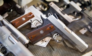 File photo of handguns by Scott Olson/Getty Images