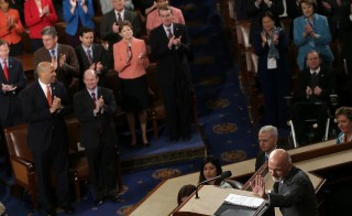 Afghanistan's President Ashraf Ghani receives a standing ovation during an address to a joint meeting of Congress on March 25 in Washington, D.C. Photo by Win McNamee/Getty Images