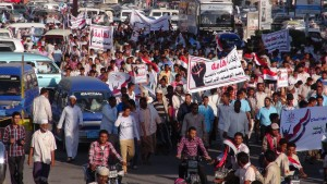 Yemenis hold Anti-Houthi demonstration in Sanaa