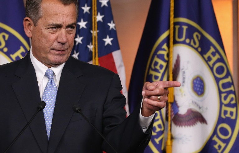 John Boehner Holds Weekly Press Conference At Capitol