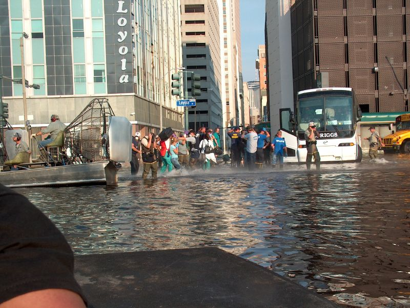 Wildlife and Fisheries Help Evacuate Bryant-Penland and her husband, who is also a nurse, were among the last to leave Charity Hospital on the sixth day of the evacuation, after seeing all of the patients off. Her father, who had connections to the Louisiana Wildlife and Fisheries department, helped to arrange for their evacuation by boat. -- Photo by Mooney Bryant-Penland