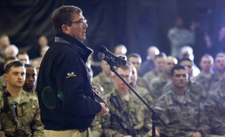 U.S. Secretary of Defense Ash Carter at a question-and-answer session with U.S. military personnel in Kandahar February 22, 2015. Officials say the Obama administration will not cut the number of U.S. forces in Afghanistan to 5,500 by 2016. Photo by Jonathan Ernst/Reuters