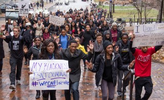 Students at Vanderbilt University held a protest against police brutality in December. Photo by Blake Dover/The Vanderbilt Hustler