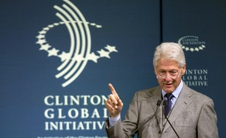 Former President Bill Clinton speaks during the Clinton Global Initiative's 2015 Winter Meeting in New York February 10, 2015. Clinton defended his foundation's acceptance of donations from foreign sources Saturday. Photo by Brendan McDermid/Reuters