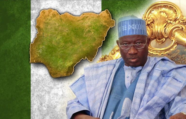 GOODBYE GOODLUCK  nigeria  monitor flag map