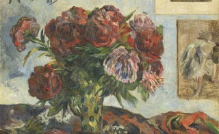 Paul Gauguin (French, 1848-1903) Still Life with Peonies, 1884, oil on canvas, 23 1/2 × 28 3/4 in. National Gallery of Art, Washington, D.C., Collection of Mr. and Mrs. Paul Mellon, 1995.47.10.  Courtesy of the VMFA.